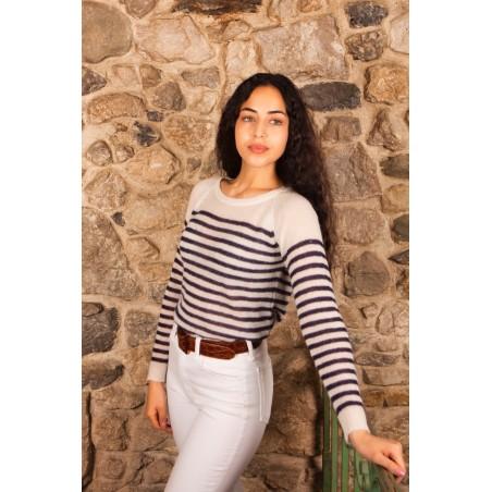 mariniere,pull baby alpaga, knitwear, fait main, mode sustainable,mode eco-responsable